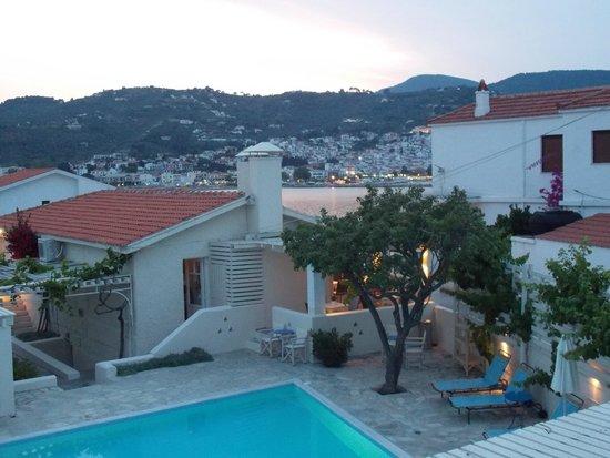 Skopelos Village: View from bedroom balcony