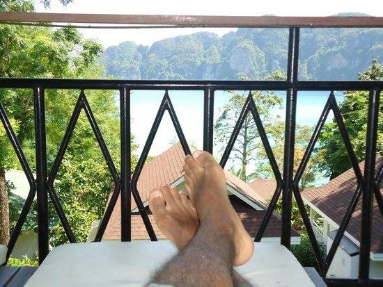 Bay View Resort: Sempre tomava uma gelada aí na varanda. Hahaha
