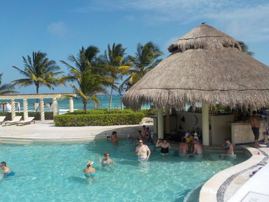 Dreams Tulum Resort & Spa: Swim up bar