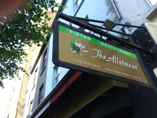 The Allotment Bistro Restaurant: The Sign says it all!