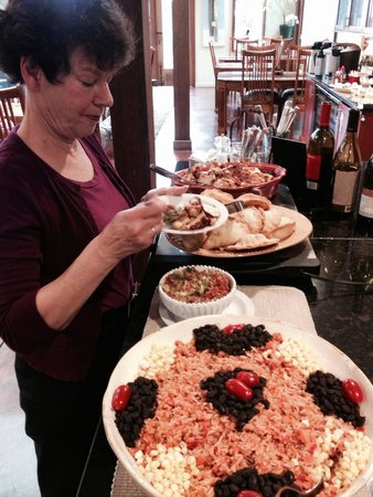 Brewery Gulch Inn: Carol Beazley enjoying supper!