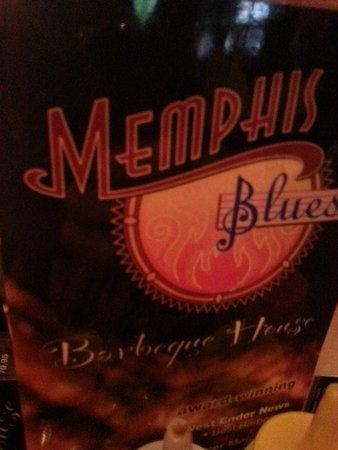 Memphis Blues BBQ House : The menu.