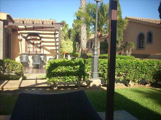 Dunas Maspalomas Resort: unique terrasse voisine du bungalow