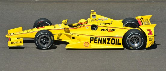 Indianapolis Motor Speedway Museum: 2014 2nd place car... helio castroneves of brazil...
