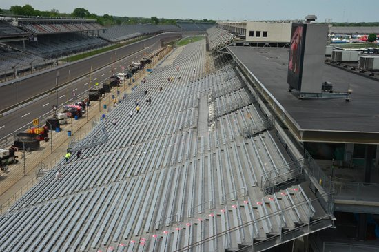 Indianapolis Motor Speedway Museum: view from the 'pagoda' toward turn four...