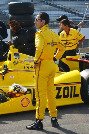 Indianapolis Motor Speedway Museum: three-time winner, helio castroneves, of brazil