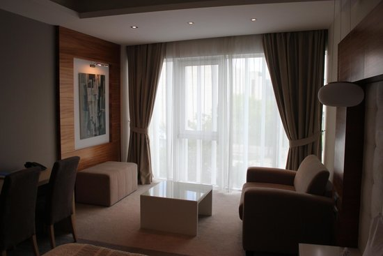 Hotel Centar: Sitting area with views of the city