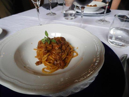 """Castello di Modanella: Un """"mezzo"""" primo piatto (1) ideale per provare più cose...."""