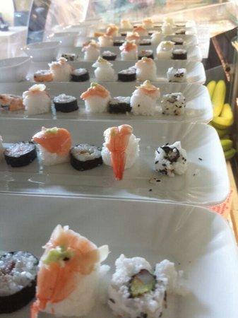 La Perla Bar Gelateria : suschi a go go