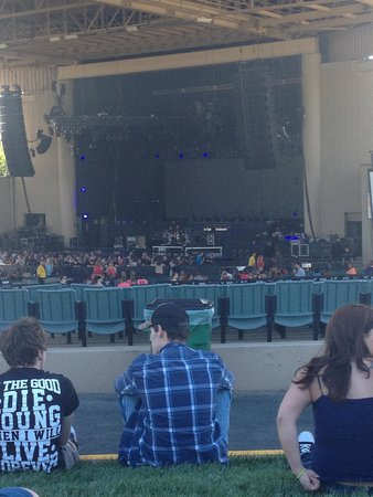 Klipsch Music Center : View of stage from the grass.