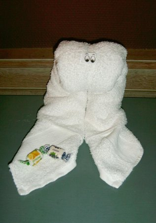 Hotel Biskajer Adults Only: One of the many lovely towel animals