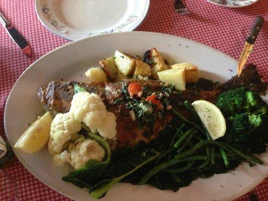 Al Firenze Ristorante and pizzeria: Whole grilled fish