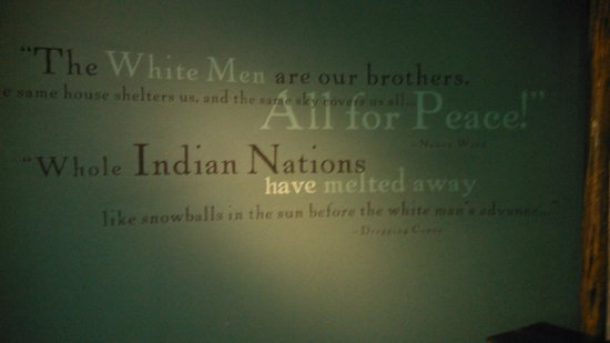 Quotes That Were On The Wall Picture Of Museum Of The Cherokee Cool Cherokee Indian Quotes