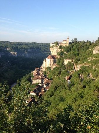 Hotel Meysset: rocamadour from above