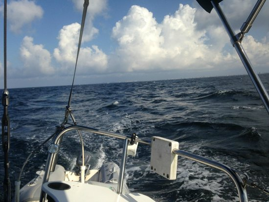 Emerald Coast Yachts Day Tours: Off the coast of Destin headed to Panama City