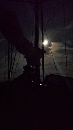 Emerald Coast Yachts Day Tours: Anchored enjoying full moon
