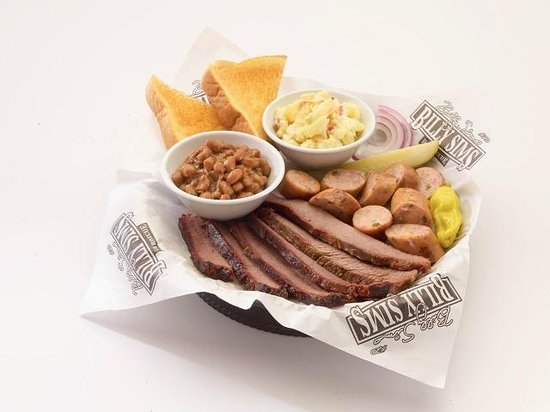 Billy Sims BBQ : Two Meat Combo