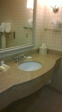 Hilton Garden Inn Omaha West: Full size mirror & compimentary toiletries
