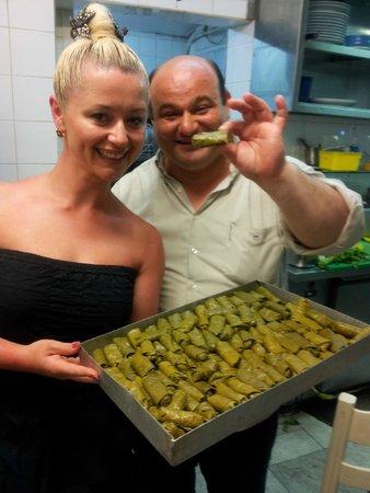 Nikos Fish Taverna: boss Nikos