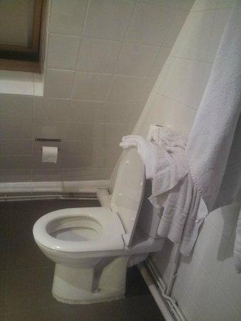 Villa Bellagio Paris : vue depuis la douche, vous ferrez sûrement comme nous et utiliserez les wc comme étagère