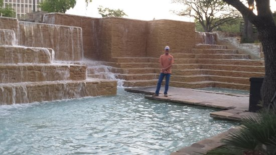 Tower of the Americas: The waterfalls on the Tower Grounds