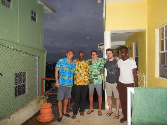Shortstay Facility St. Lucia: outside our room with Dare and Akin