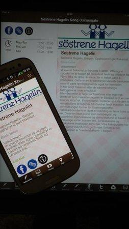 Sostrene Hagelin: Last ned vår app. Få meny og veibeskrivelse
