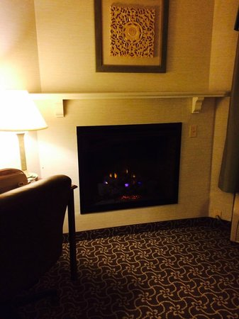 D. Hotel & Suites: Fireplace in room