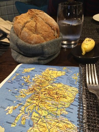 The Kitchin: Bread with ingredient map