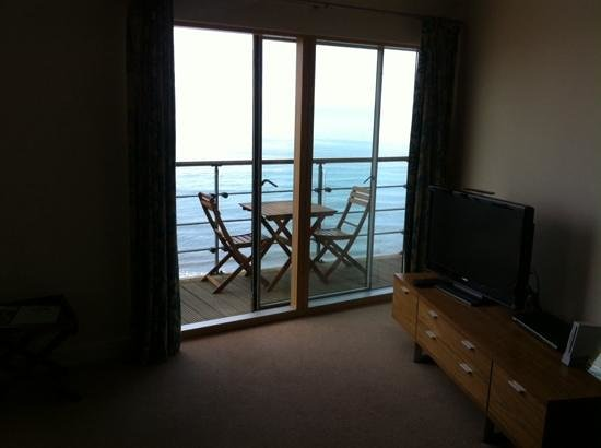 The Sands - Sea Front Apartments: view from sofa :-)