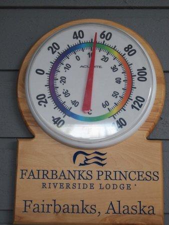 Fairbanks Princess Riverside Lodge: Temp Outside