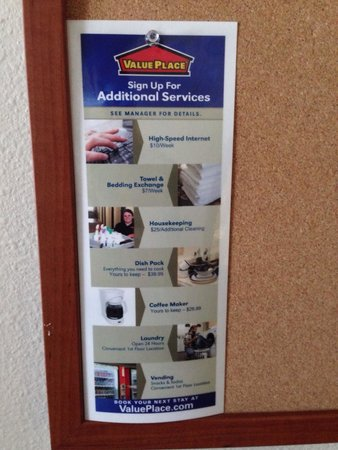 WoodSpring Suites Fort Walton Beach : U have to pay for everything