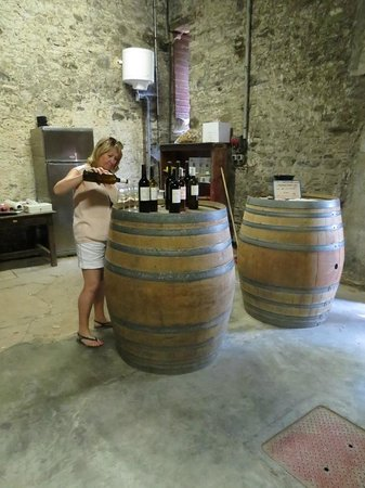 Vin en Vacances - Day Tours: Wendy preparing a tasting session