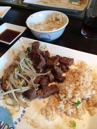 Hokkaido: Beautiful steak stir fry and egg fried rice