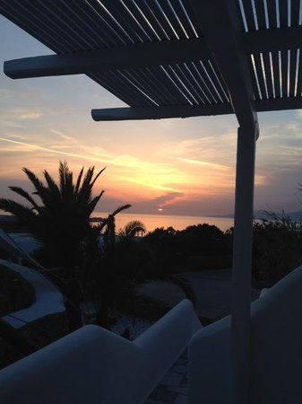 Ostraco Suites: Sunset from our room