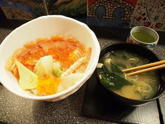 Sushi KITA: Chirasi & Miso soup♡