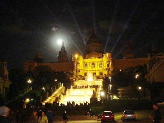 Parc de Montjuic : Chegando a noite