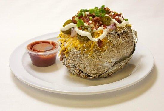 Port Allen, LA: Loaded Baked Potato w/ Homemade BBQ Sauce