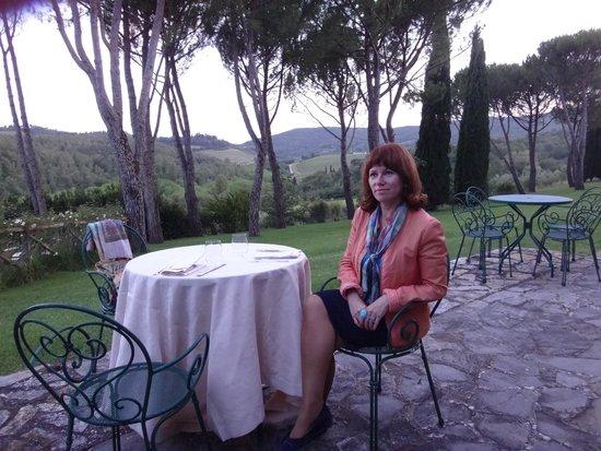 Castello di Spaltenna Exclusive Tuscan Resort & Spa: ужин