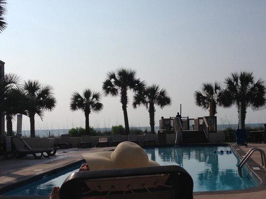Oceanfront Litchfield Inn : Right Outside Our Room!