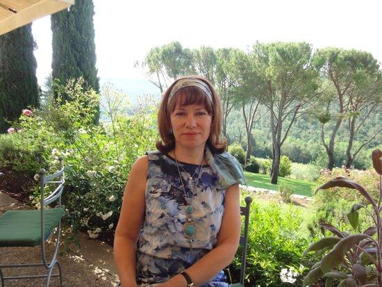 Castello di Spaltenna Exclusive Tuscan Resort & Spa: вид с террасы отеля