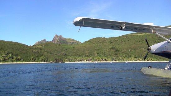 Octopus Resort: island from sea plane