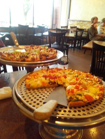 Harrison Hot Springs, Canadá: So sah die Pizza aus