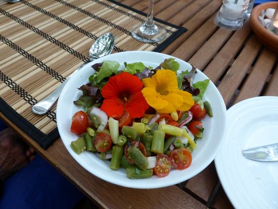 Mahana Lodge: Fresh vegetables from their garden.