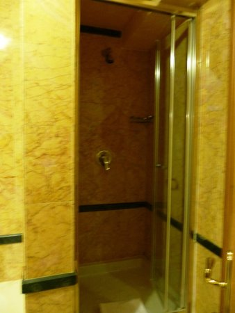 River Palace Hotel: a very narrow shower