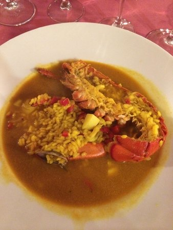 Restaurant Koxkera: Creamy rice w/lobster. Yummy.