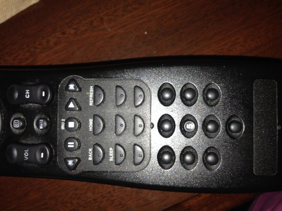 Hampton Inn & Suites Denton: remote with numbers missing