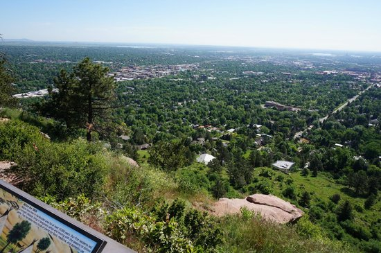 Flagstaff Mountain: Panorama Point overlooking Boulder