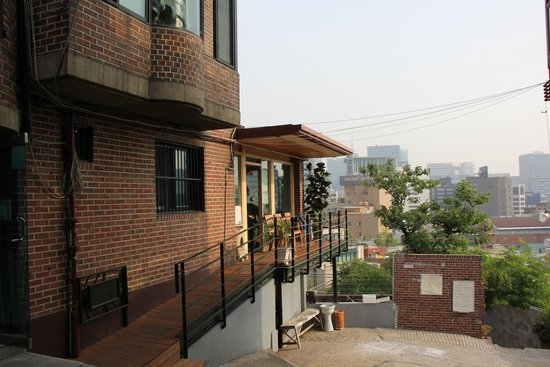 Seoul Tower Ville: Picture of main office which has space inside and a little deck outside