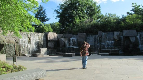 Franklin Delano Roosevelt Memorial: The falls grow as you continue thru the park